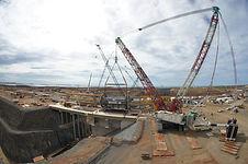 Crane, rigging, super lift, crawler crane