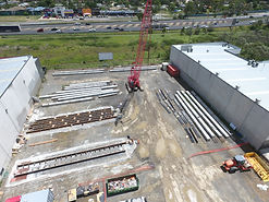 Drone Photography, precast yard