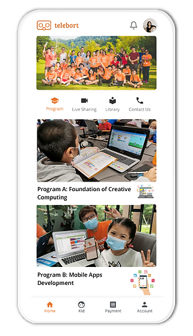 Parent App Homepage.png