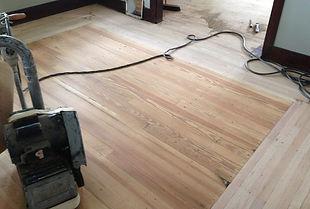 sanding hardwood floors
