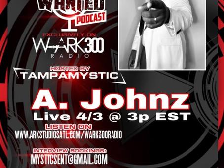 Catch A. Johnz Live 4/3 @3PM on WARK300 Radio Atlanta!!!