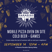 Enjoy the last days of summer with Pizzeria Paradiso!