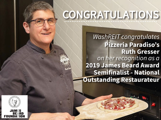 Pizzeria Paradiso's Ruth Gresser Recognized as 2019 James Beard Award Semifinalist