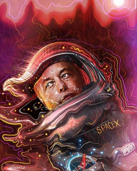 Elon on Mars psychedelic trip