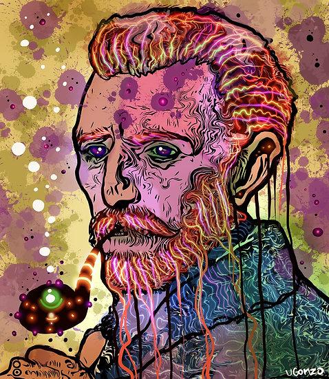Psychedelic drip Van Gogh