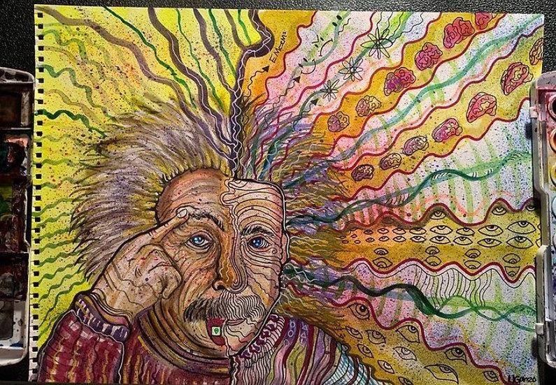 Abert Einstein on alien LSD