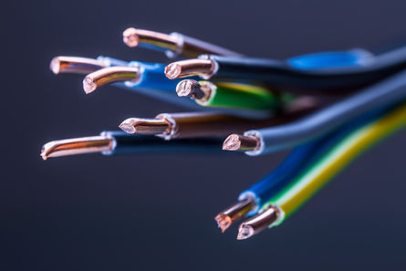 Group of colored electrical cables - stu
