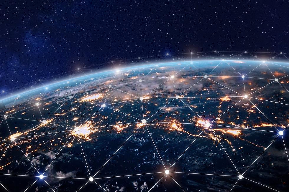 Global world telecommunication network w