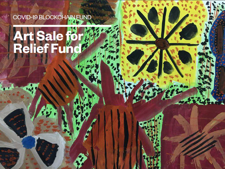 Art Sale for Relief Fund.