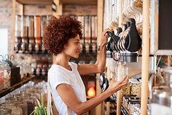 zero waste shopping black woman.jpg
