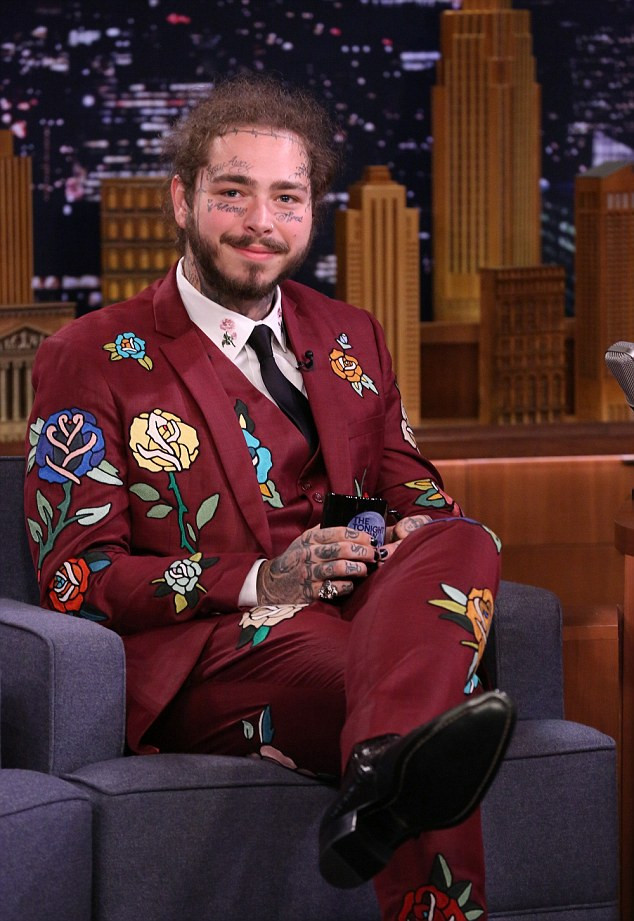 Post Malone on The Tonight Show.
