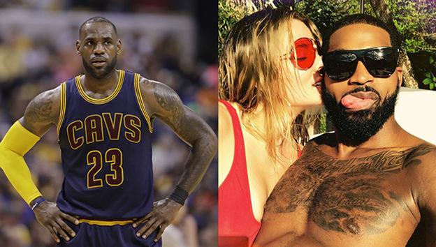 7b813bc39cbc LeBron James Thinks Tristan Thompson Is  Crazy  To Date Khloe Kardashian