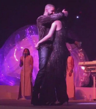 Did Rihanna and Drake KISS during raunchy performance of Work on world tour?