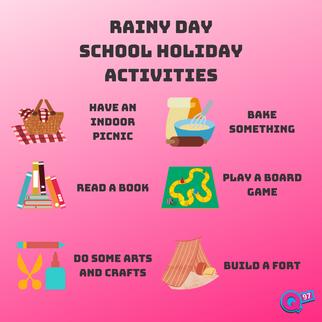 Rainy Day School Holiday Activities