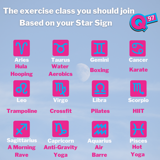 The exercise class you should join - Based on your star sign.