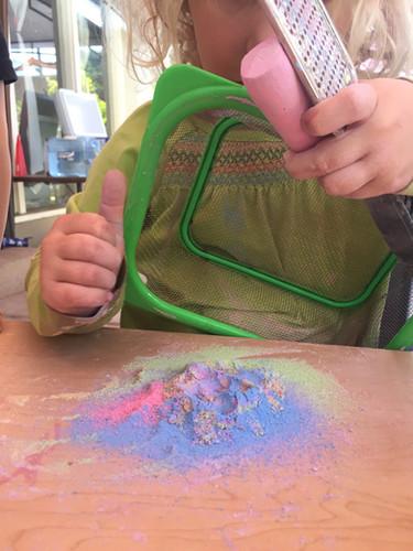 chalk grating