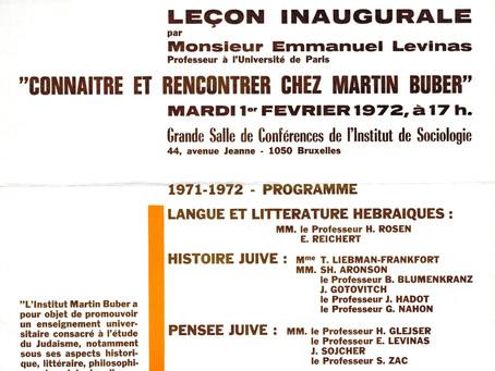 La toute première séance inaugurale de l'Institut : Emmanuel Levinas à l'affiche !
