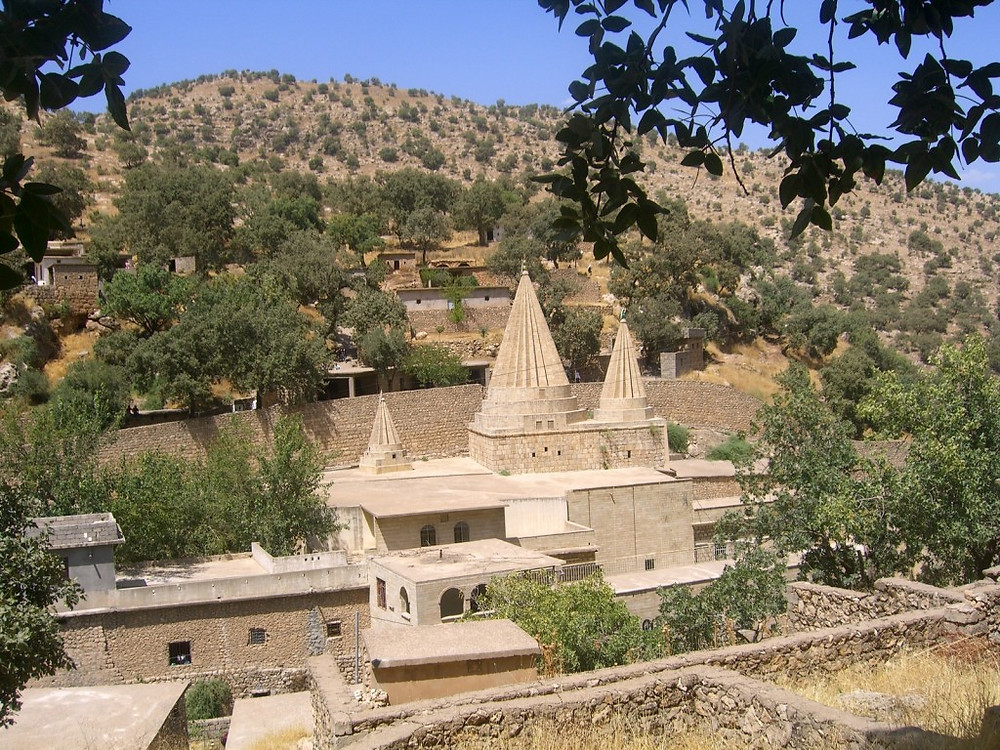 sanctuaire lalesh cheikh adi yezidis