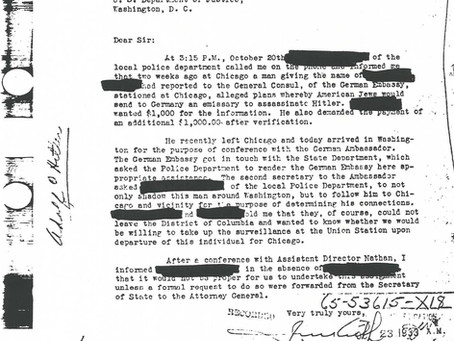 Des gangsters juifs tentent d'assassiner Hitler en 1933 : un complot déjoué par le FBI