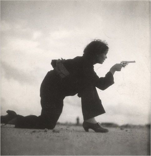 Membre de la milice républicaine espagnole. Barcelone, 1936 - (c) Gerda Taro.