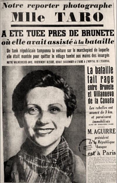 """Annonce du journal français """"Ce Soir"""", juillet 1937."""
