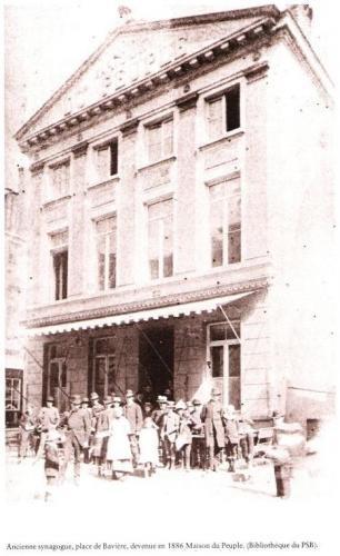 Bruxelles. Bâtiment faisant office de synagogue de 1834 jusqu'à 1878.