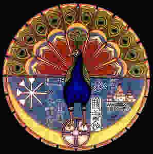 yezidis Malek Taus, l'ange paon,
