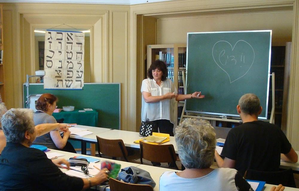 Cours de yiddish à l'Institut d'Etudes du Judaïsme