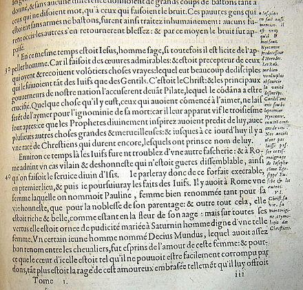 Testimonium, Paris, 1631.