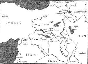 carte map yezidis