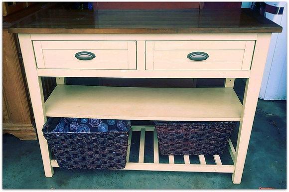 White & Wood Sideboard