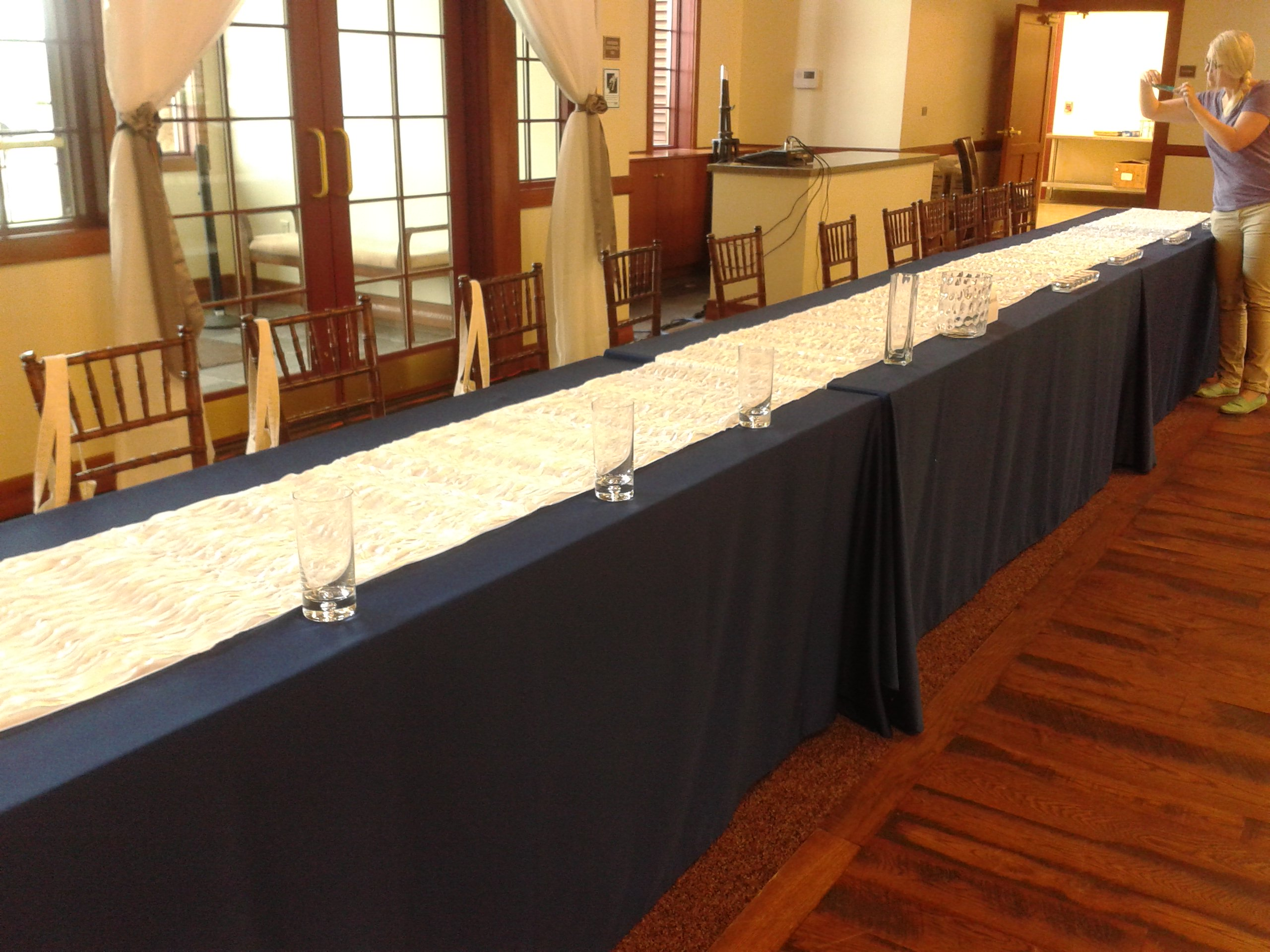 Navy Blue Lamour Tablecloths