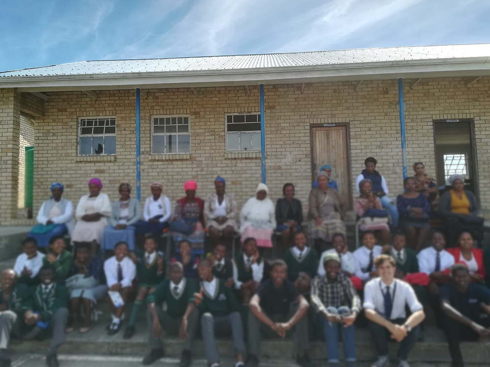 Our matric students with their family representatives