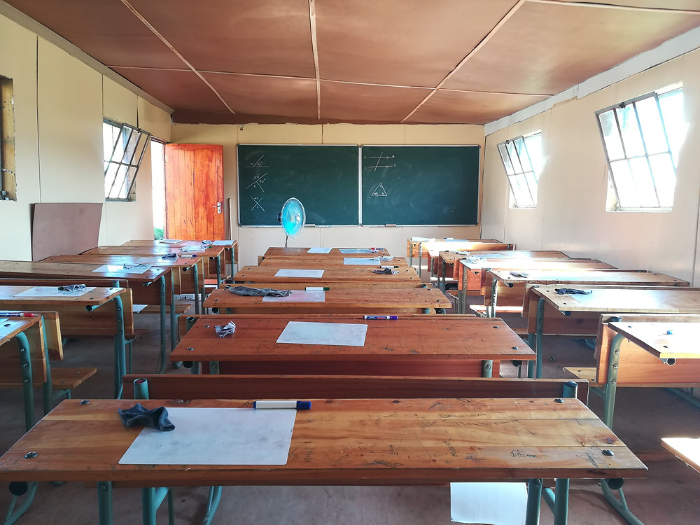 Upgraded classroom at Dumalisile Comprehensive High School