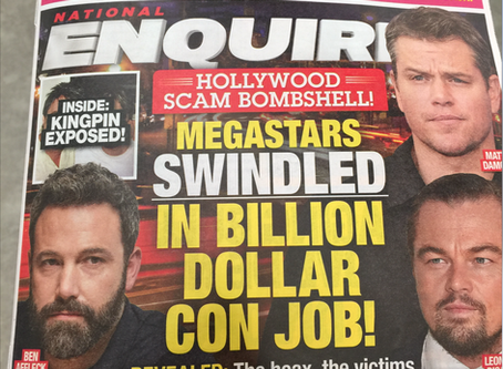 Houston Curtis, Tobey Maguire, Ben Affleck, Matt Damon and Leonardo Dicaprio Make The cover of the N