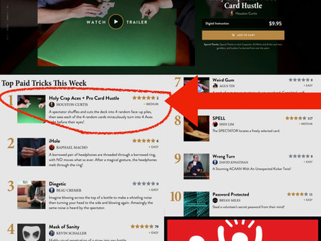 Houston Curtis' Holy Crap Aces + Pro Card Hustle hits #1 Best-Seller with 5 Stars this week on T