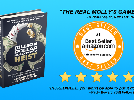 Kardsharp fans help make Billion Dollar Hollywood Heist Amazon's new #1 Best Seller!