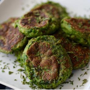 Spinach Potato Puffs