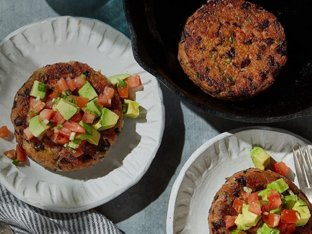Chipotle Black Bean Patties and Avocado Salsa