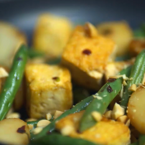 Asian Tofu and Green Beans