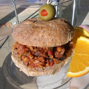 Barbecue Tempeh Sandwich
