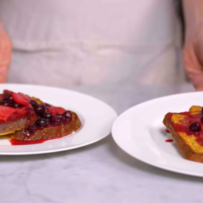 Sheet Pan French Toast with Berries