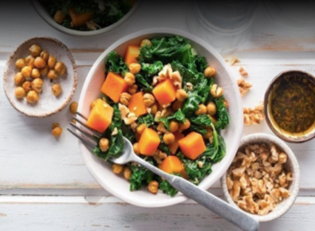 Muscle Building Sweet Potato & Roasted Chickpea Bowl