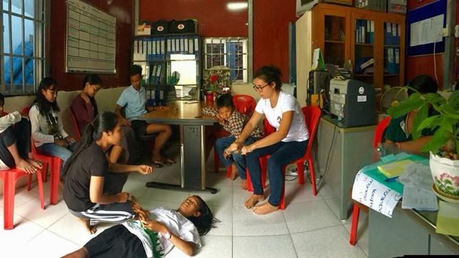 Cours de 1ers secours en orphelinats