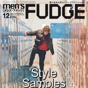 雑誌掲載情報【men's FUDGE12月号】