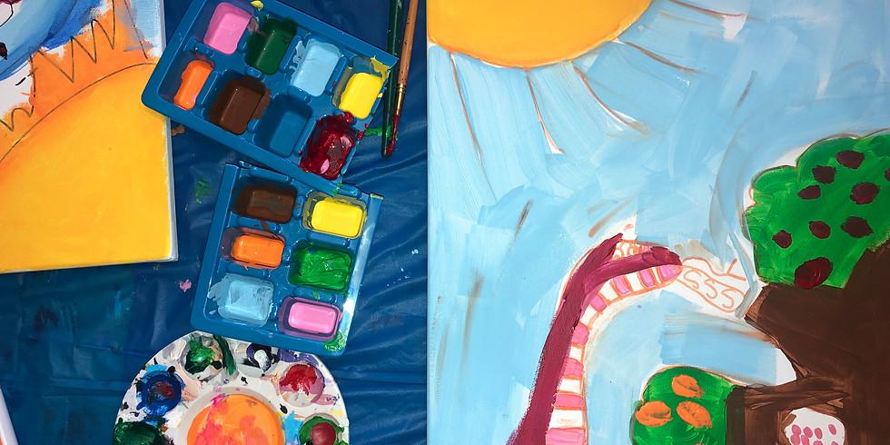 Canvas Paint Class for Kids