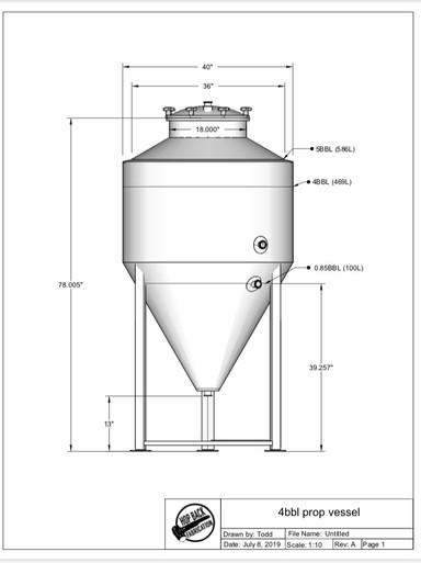 4BBL Yeast Propagation Vessel
