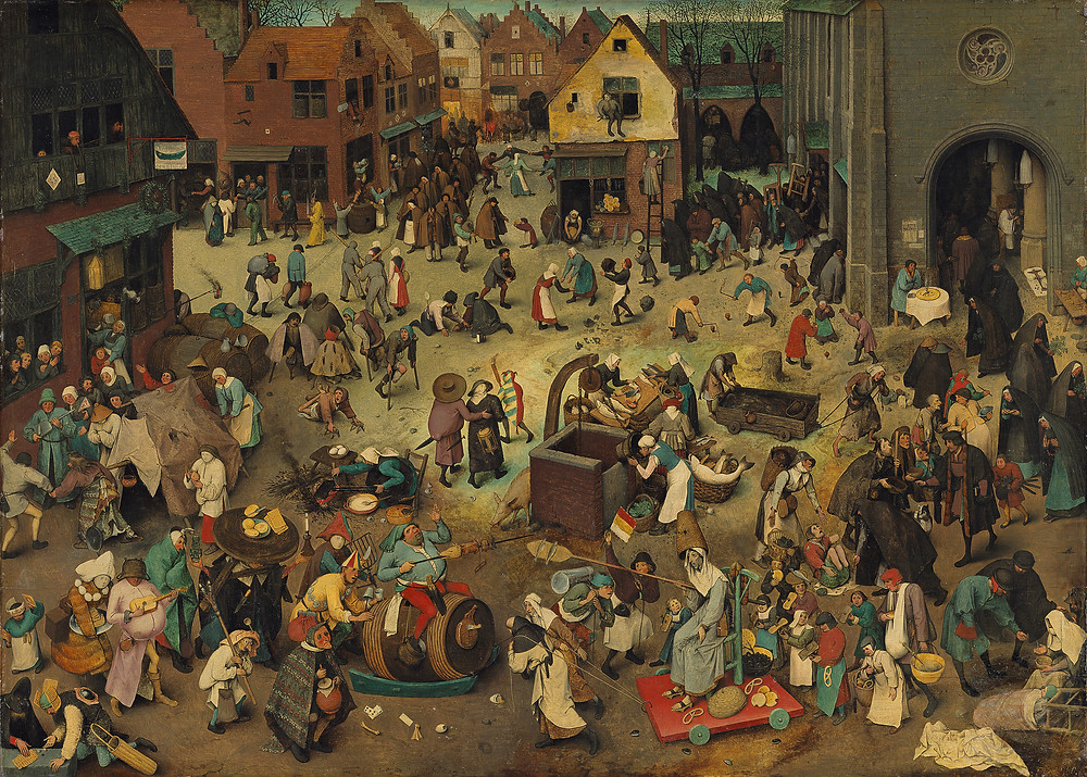 The Fight Between Carnival and Lent - Pieter Brugel the Elder