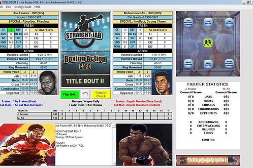 Title Bout II Computer Game UNLOCK CODE & HW DIVISION