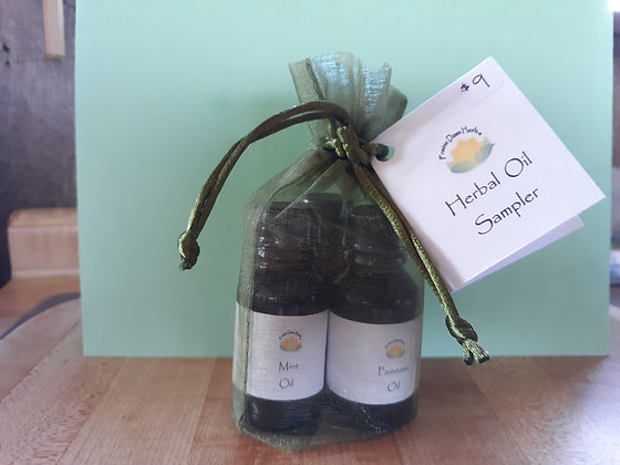 Infused Oil Sample Set in Green Bag